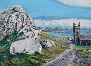 Schafe auf der schottischen Insel Coll