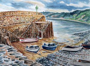 Devon, Hafen von Clovelley an der Atlantikküste