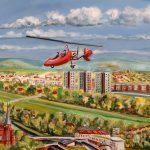 Gyrcopter über Innersteaue
