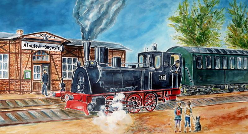 Almetalbahn mit Dampflok Schunter Hanomag T3 von 1901
