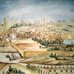 Jerusalem Blick vom Oelberg, 1985, Aquarell