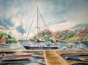 2009_07_Rasvag_Norwegen_Aquarell