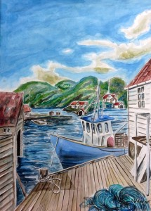 2009_Rasvag_Norwegen_Aquarell