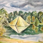 Cottbus Pyramide, 2010, Aquarell