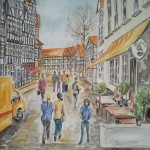 Braunschweig Magniviertel Aquarell