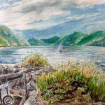 Unter vollen Segeln Einfahrt nach Flekkefjord