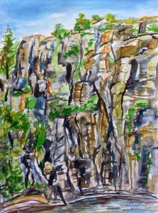 Felsenwand im Flekkkefjord