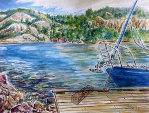 Anleger im Flekkefjord