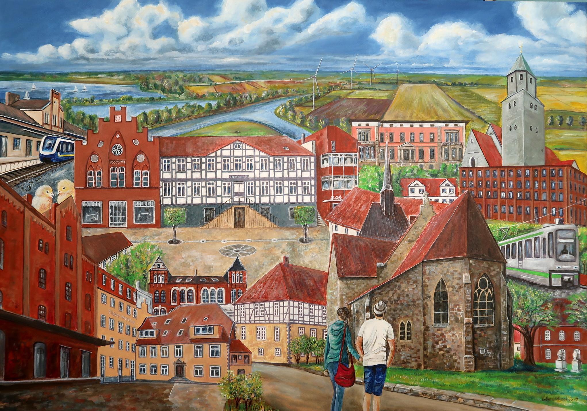 Collage von Sarstedt und zugehörigen Orten