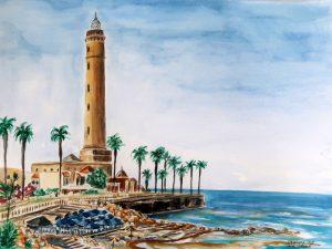 Leuchtturm von Chipiona am Atlantik