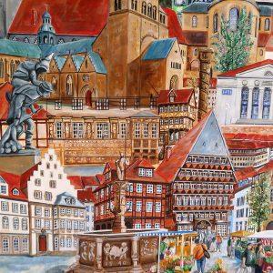 Ausschnitt mit Kaiserhaus, Huckup und Marktplatz